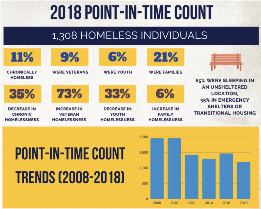 2018 Point in time count Homeless Individuals